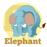 Elefante de la historieta de ABC Fotografía de archivo libre de regalías