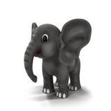 Elefante de la historieta en el fondo blanco Imagen de archivo