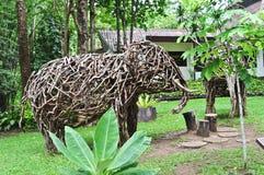Elefante de madeira Imagens de Stock