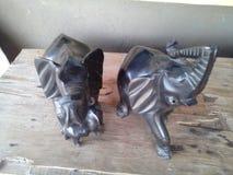 Elefante de madeira Fotografia de Stock
