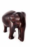 Elefante de madera de la sandalia foto de archivo