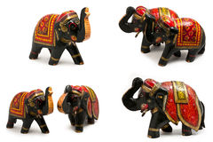 Elefante de madera Serie Foto de archivo libre de regalías
