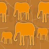 Elefante de oro stock de ilustración
