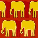 Elefante de oro ilustración del vector