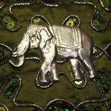 Elefante de plata indio Fotos de archivo