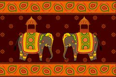 Elefante decorado Fotos de Stock
