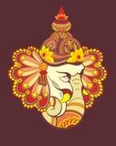 Elefante decorativo - Ganesha illustrazione vettoriale