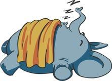 Elefante del bambino di sonno Fotografia Stock Libera da Diritti