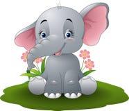 Elefante del bebé de la historieta stock de ilustración