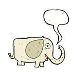 elefante del bebé de la historieta con la burbuja del discurso Foto de archivo libre de regalías