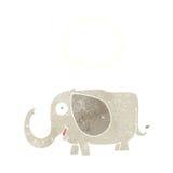 elefante del bebé de la historieta con la burbuja del pensamiento Fotos de archivo