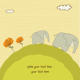 Elefante del bebé y su madre Foto de archivo