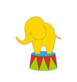 Elefante del circo de la historieta Imagenes de archivo