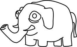 Elefante del fumetto Fotografia Stock