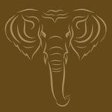 Elefante del tatuaggio Fotografie Stock Libere da Diritti