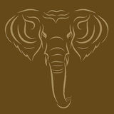 Elefante del tatuaje Fotos de archivo libres de regalías