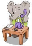 Elefante del telefono dell'impiegato Fotografie Stock