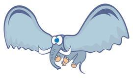 Elefante del vuelo ilustración del vector