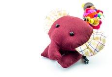Elefante della bambola di pezza Fotografia Stock