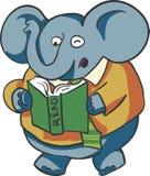 Elefante della lettura Fotografie Stock Libere da Diritti