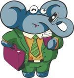 Elefante di affari Fotografia Stock