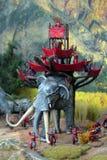 Elefante di battaglia Fotografie Stock