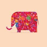 Elefante di colore Immagini Stock