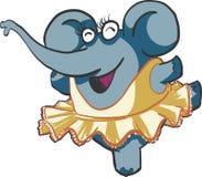 Elefante di dancing Fotografie Stock