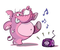 Elefante di Dancing royalty illustrazione gratis