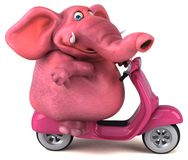 Elefante di divertimento - illustrazione 3D illustrazione di stock