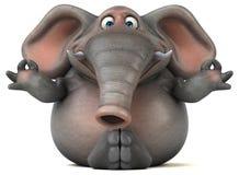 Elefante di divertimento - illustrazione 3D royalty illustrazione gratis