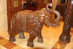 Elefante di legno Fotografie Stock