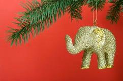 Elefante di natale Fotografia Stock Libera da Diritti