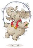 Elefante di salto Fotografia Stock