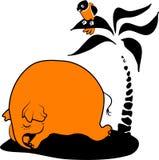 Elefante di sonno illustrazione di stock