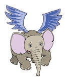 Elefante di volo Illustrazione Vettoriale