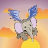 Elefante di volo Royalty Illustrazione gratis