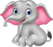 elefante divertente del fumetto illustrazione vettoriale
