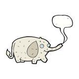 elefante divertido de la historieta pequeño con la burbuja del discurso Foto de archivo