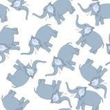 Elefante divertido inconsútil de la historieta Imagenes de archivo