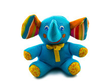Elefante do azul do brinquedo Imagens de Stock Royalty Free