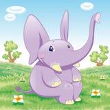 Elefante do bebê ilustração royalty free