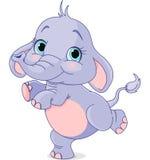 Elefante do bebê da dança Fotografia de Stock Royalty Free