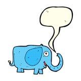 elefante do bebê dos desenhos animados com bolha do discurso Fotos de Stock