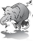 Elefante do bebê que joga com sombra Imagem de Stock