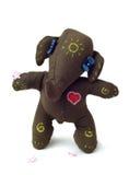 Elefante do brinquedo do divertimento com um coração. Fotos de Stock
