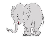 Elefante do desenho do vetor Imagem de Stock
