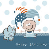 Elefante do feliz aniversario Imagens de Stock