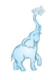 Elefante 3 do logotipo Fotografia de Stock