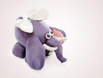Elefante dos desenhos animados da massa de modelar ilustração stock